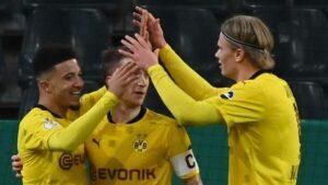 Borussia Moenchengladbach 0-1 Borussia Dortmund: Jadon Sancho scores winner